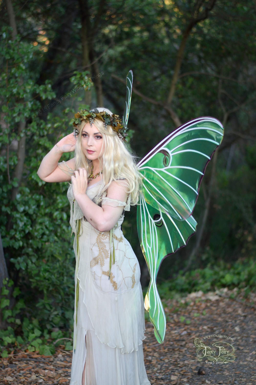 Luna Moth Fairy Preening