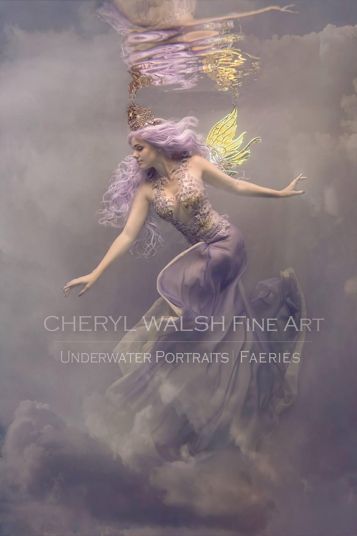 Lavender Fairy Queen 2 in Vivienne Wings by Cheryl Walsh