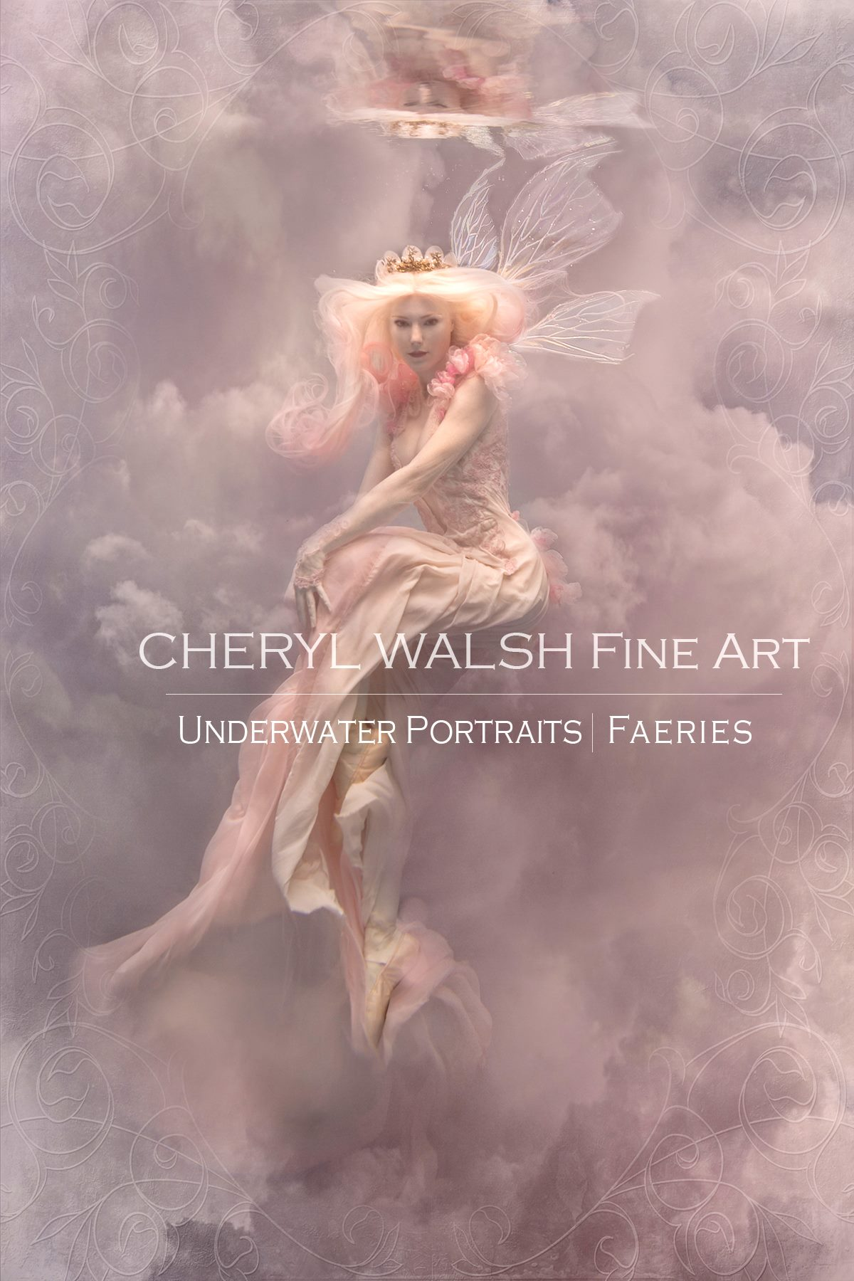 Innocent Love Fairy in Thistle Wings by Cheryl Walsh Fine Art
