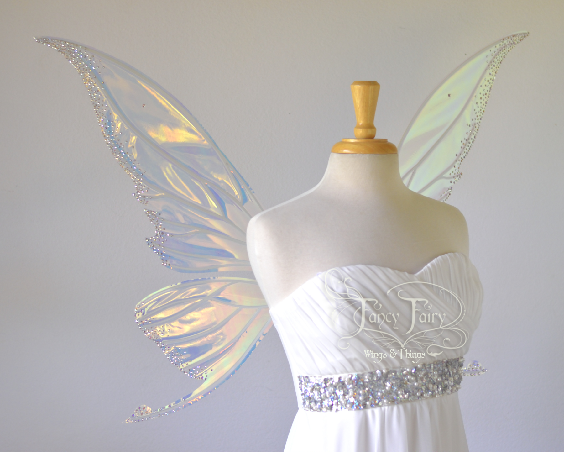 Titania Fairy Wings with Swarovski Crystals - Silver Edition