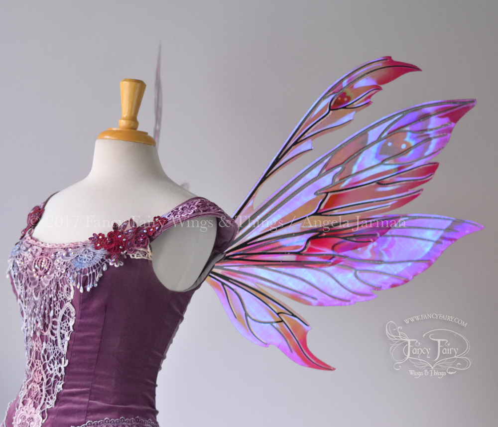 Aynia Fairy Wings Painted Valentine Theme w/ Black Veins