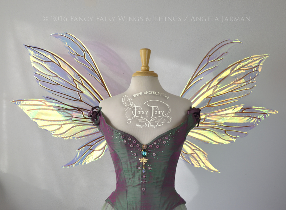 Aynia Fairy Wings Clear Diamond Fire with Copper Veins