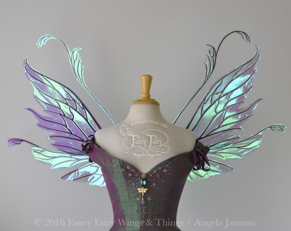 Vivienne Fairy Wings Aquamarine with Black Veins