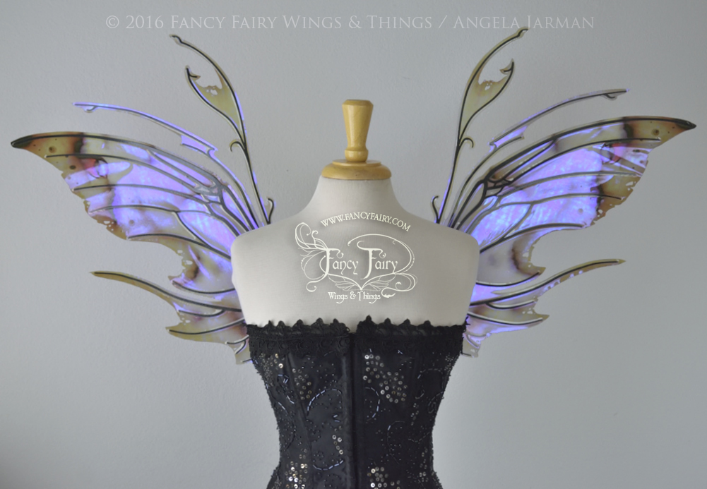 Scythe Fairy Wings in Painted UV with Black Veins