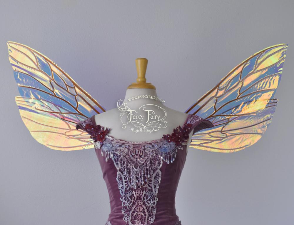 Ellette Fairy Wings in Diamond Fire with Copper Veins