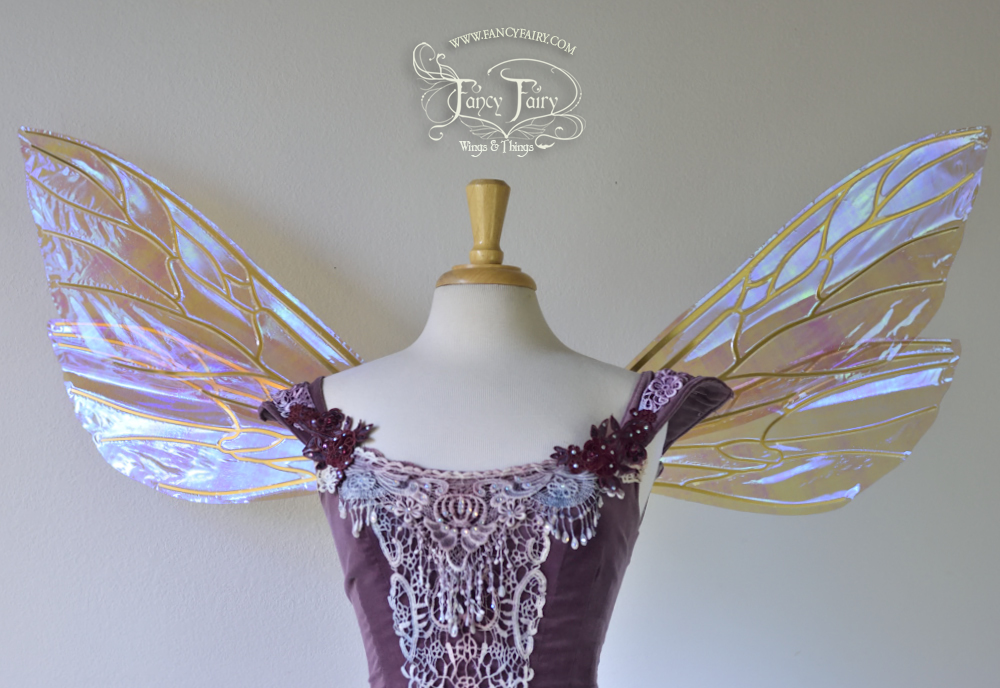 Ellette Fairy Wings in Lilac with Gold Veins