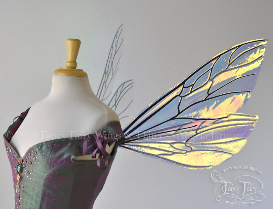 Ellette Fairy Wings in Diamond Fire with Black Veins
