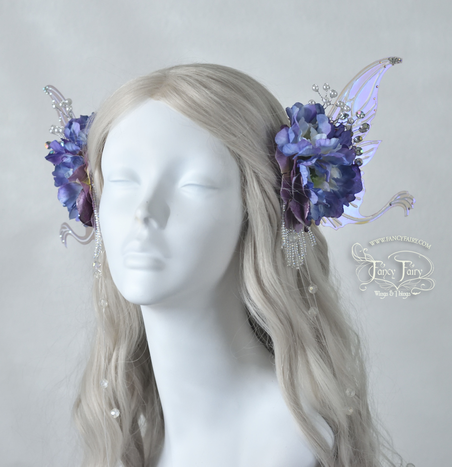 Lavender & Silver Guinevere Hair Clips, $195