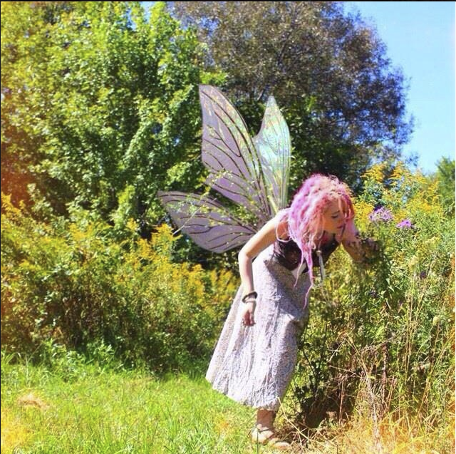 ellie.paisley in my ripped off Teasel Fairy Wings in Clear