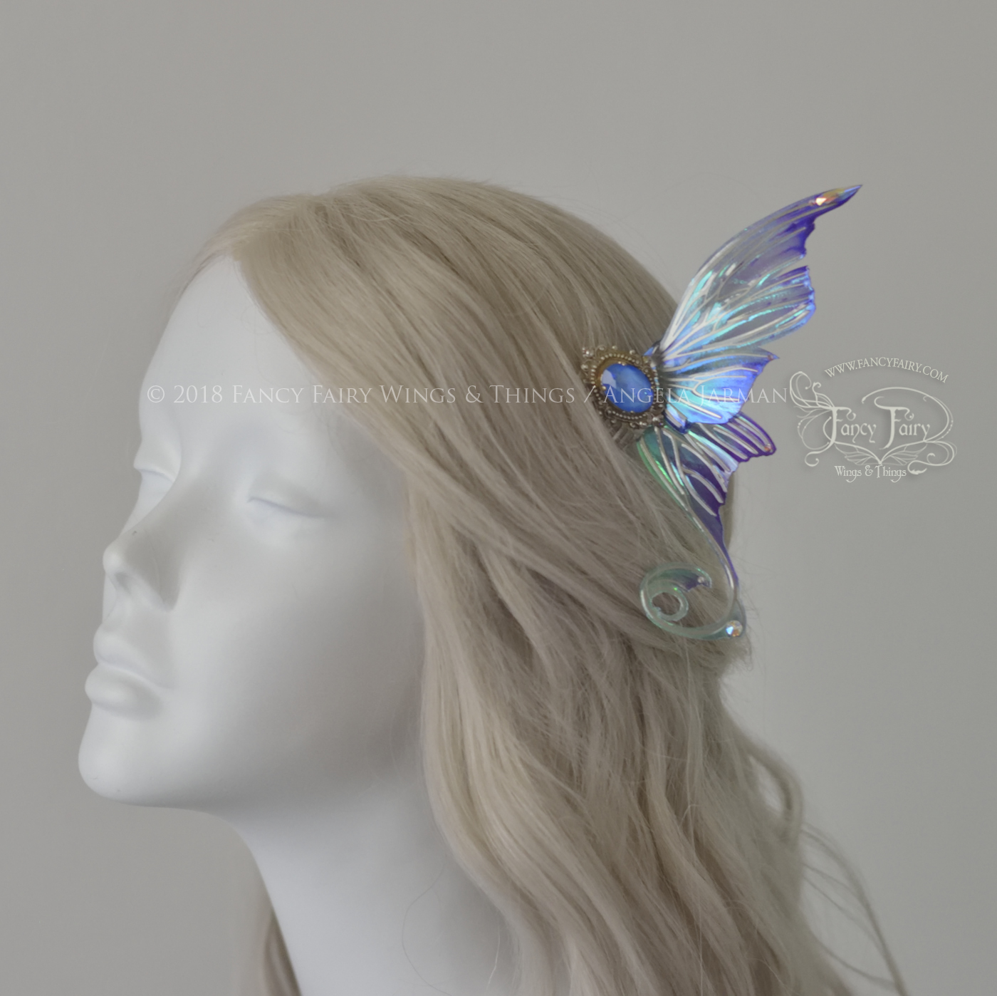 Aphrodite Oceanic Silver Winged Hair Combs