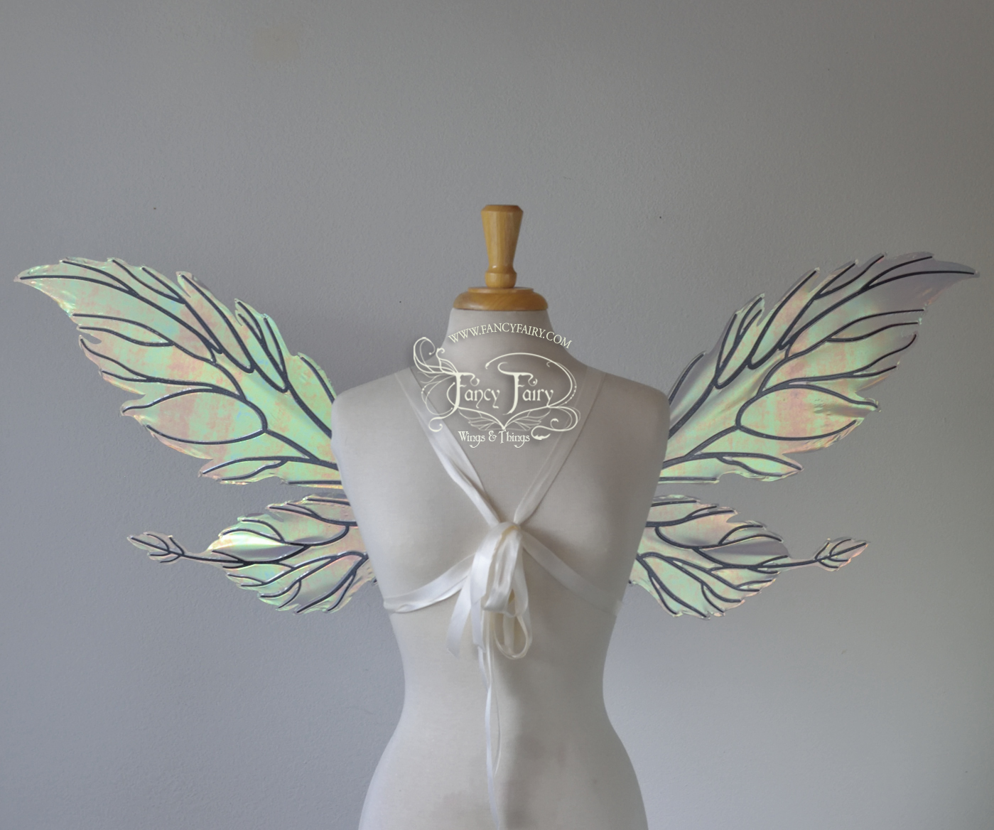 Ivy Convertible Fairy Wings in Patina Green