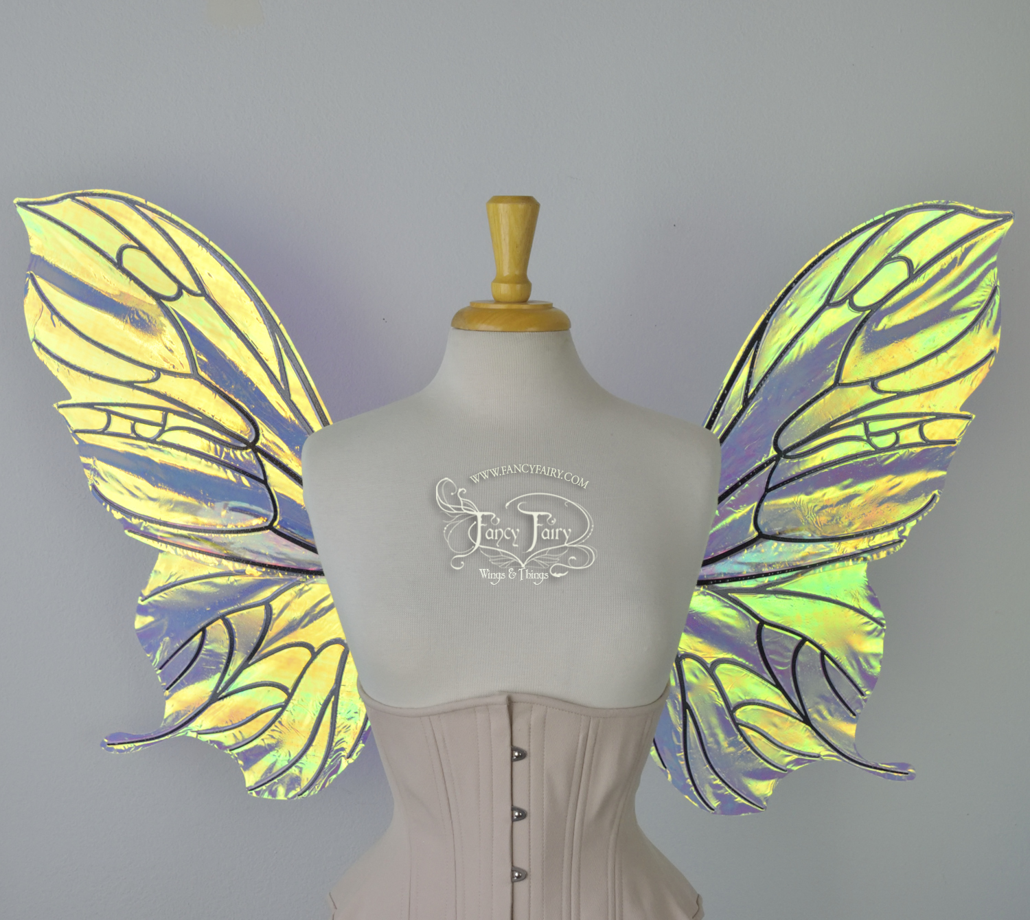 Pansy Convertible Fairy Wings in Clear Diamond Fire