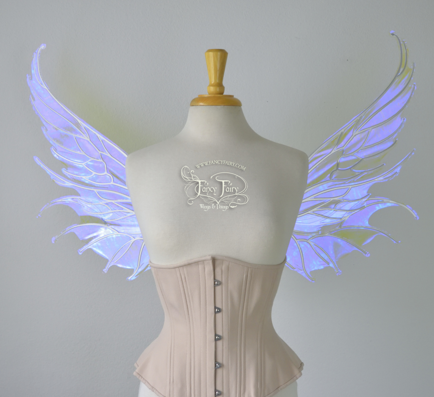 Aquatica convertible Fairy Wings in Ultraviolet with Pearl veins