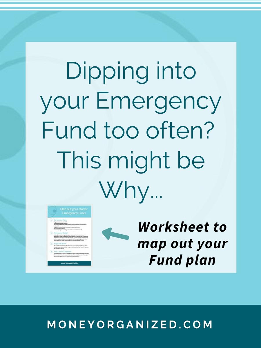 Moms + Money | Emergency Fund | Saving Goals + Free Worksheet