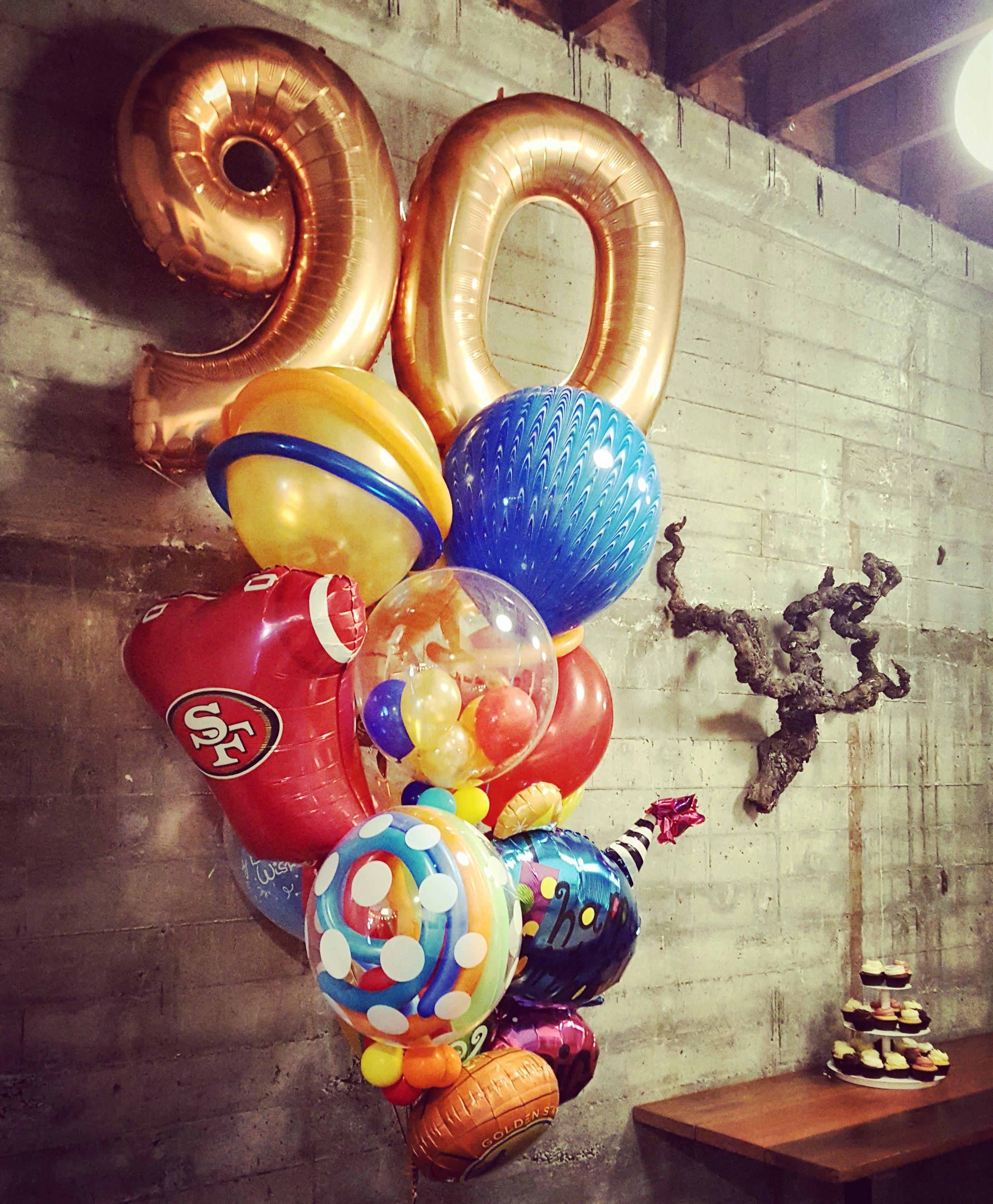 90 Top Specialty Bouquet Fun Funky Sports theme Balloon Specialties.jpg