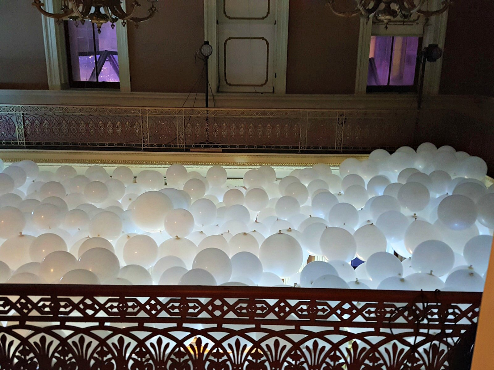 Balloon Ceiling from top view Google Balloon Cloud Promotion SF Mint.jpg