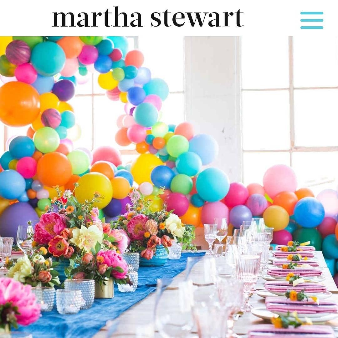 Martha Stewart Balloon Garland Installation Balloon Specialties by Zim Balloons.jpg