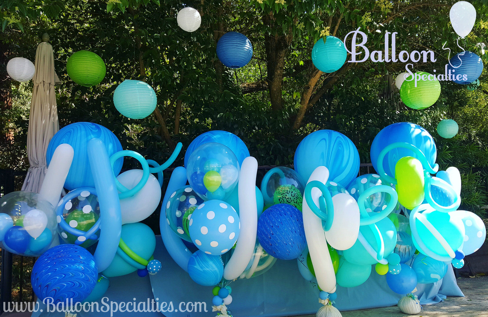 Fairmont Sonoma Specialty Balloon Bouquets Beach Theme Zim Balloon Specialties.jpg