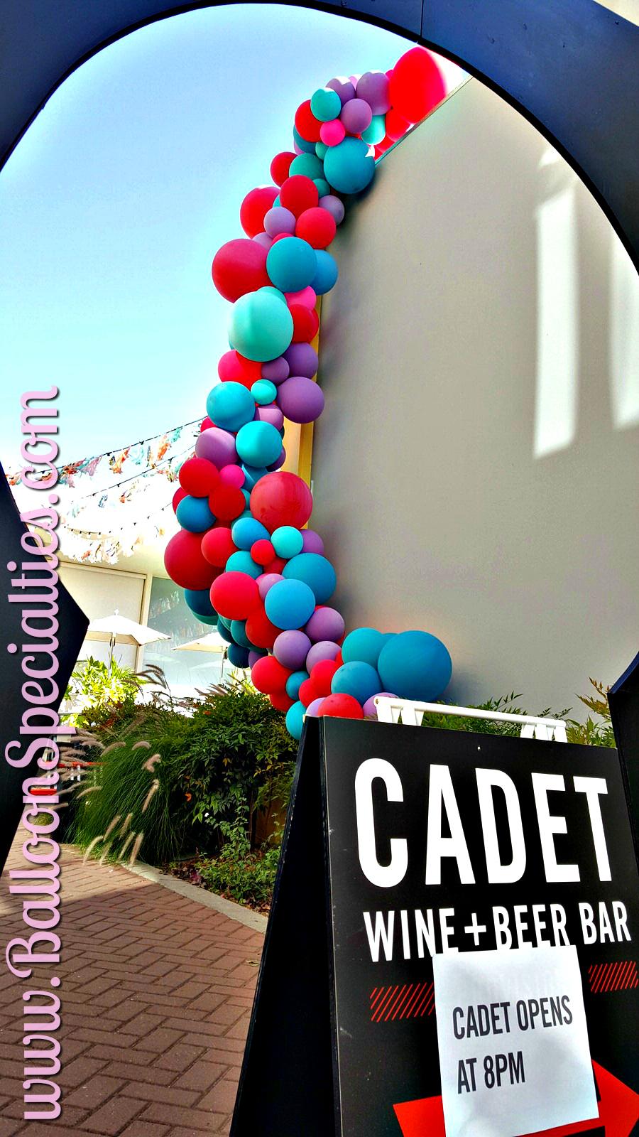 Cadet Wine Bar Balloon Garland Side View Napa Valley Zim Balloons.jpg