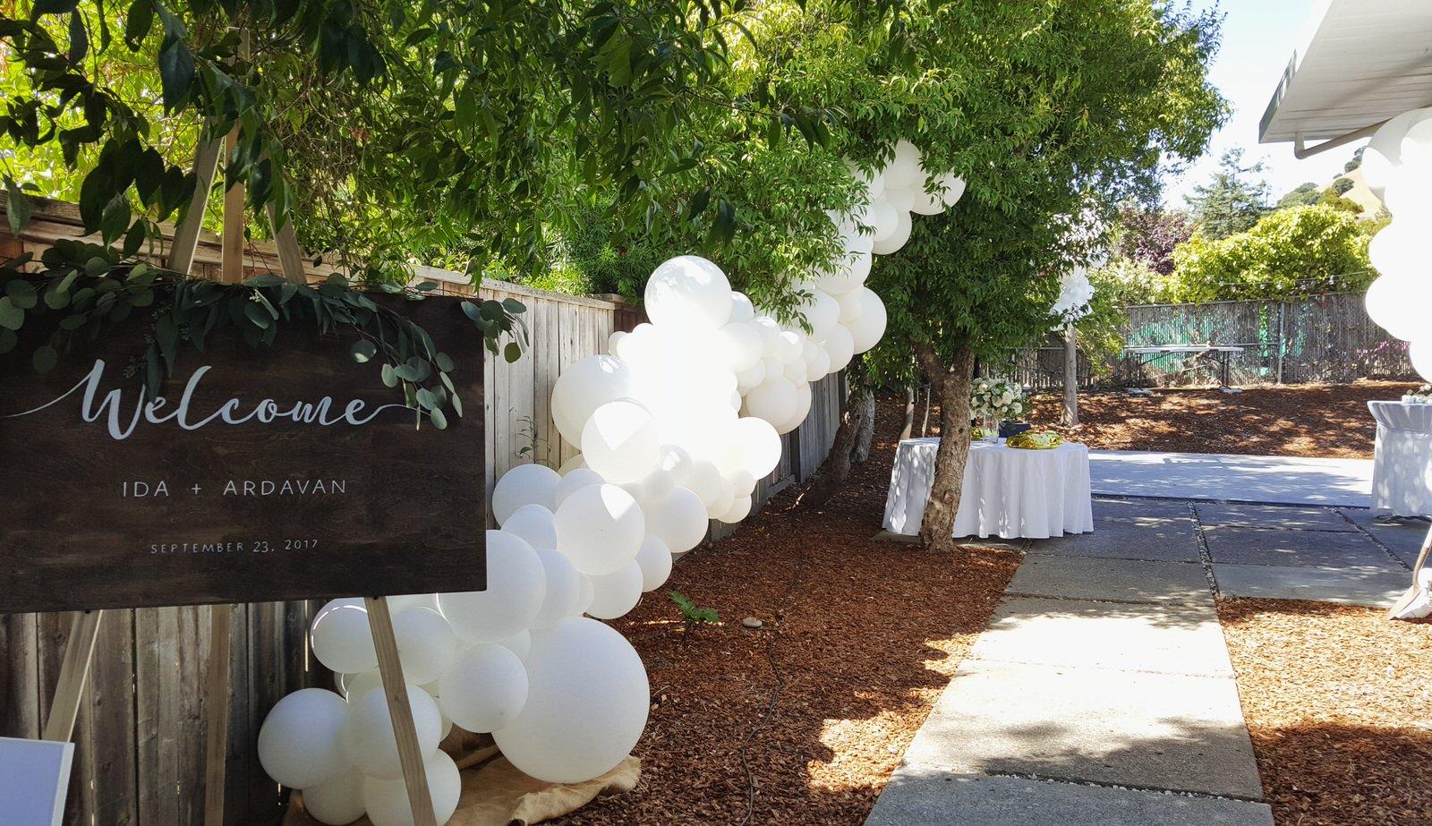 White Wedding Balloon Garland Zim Balloon Specialties Marin SF.jpg