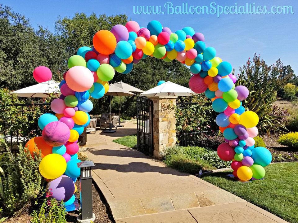 Organic Balloon Arch Fountain Grove SF North Bay Zim Balloon Specialties.jpg