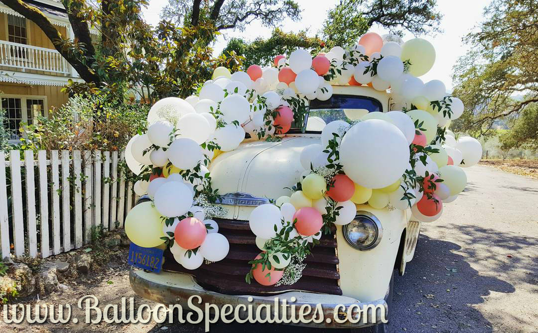 Bubble Swag Wedding balloon garland truck decorations Sonoma.jpg