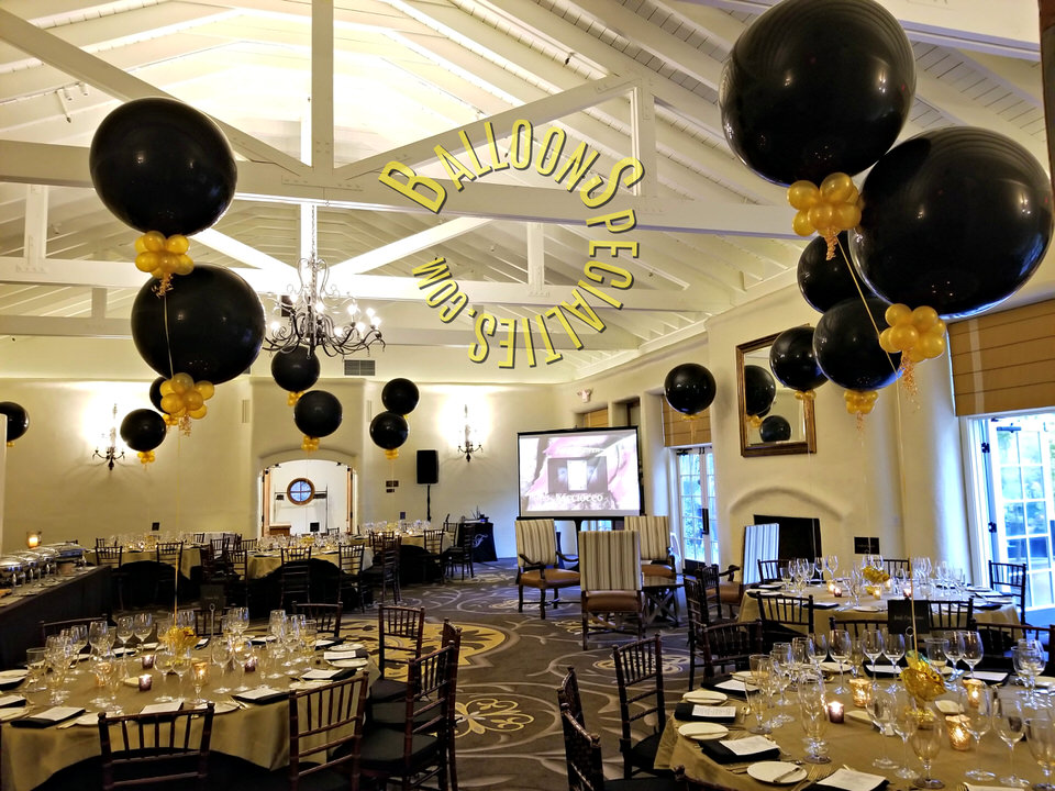 Mission Fairmont Sonoma Giant Balloon centerpieces 3Ft with collars - Zim Balloon Specialties_1.jpg