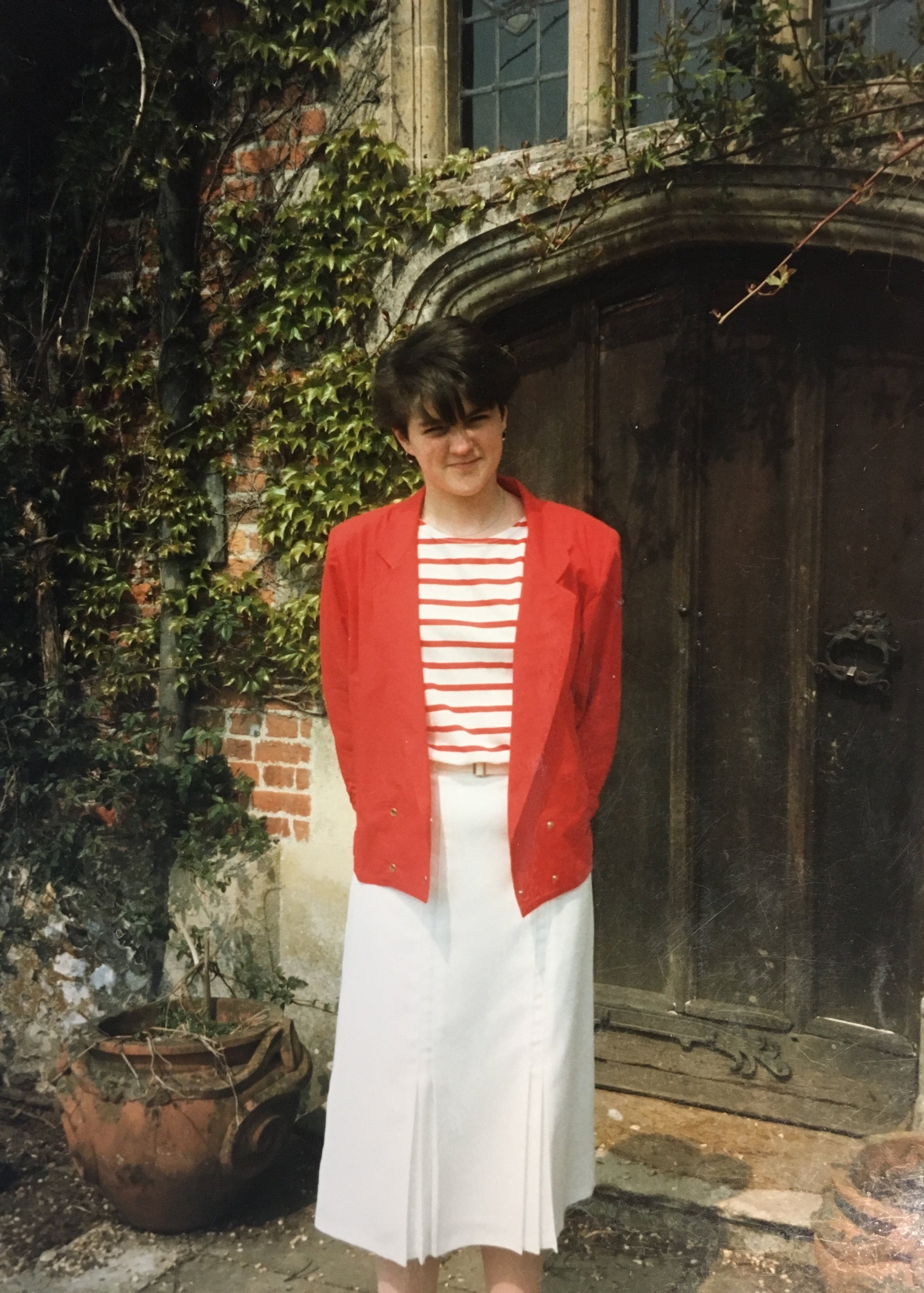 Caroline outside Chawton House   © Jane Austen Literacy Foundation. All Rights Reserved.