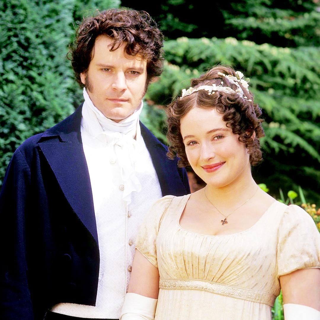 Mr. Darcy (Colin Firth) and Elizabeth Bennet (Jennifer Ehle) Credit: BBC TV