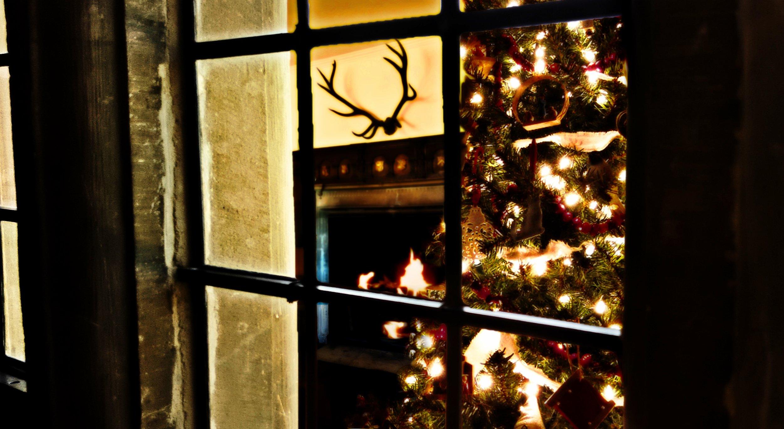 Peeking through the window into the Great Hall - courtesy of Julia Grantham