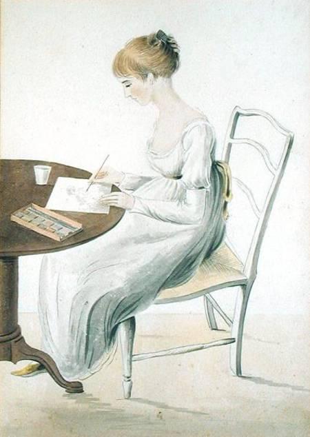 Cassandra Austen's watercolour portrait of Fanny Knight