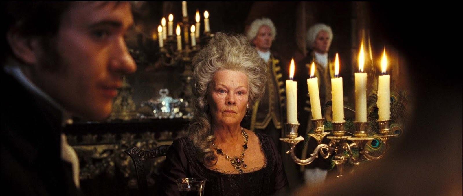 Lady Catherine (Dame Judi Dench) and Mr Darcy (Matthew Macfadyen). Credit:Studio Canal; Working Title Films.