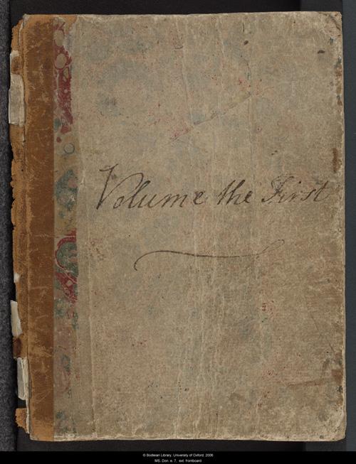 Jane Austen's  Volume the First. Credit:Jane Austen's Fiction Manuscripts: A Digital Edition (2010).