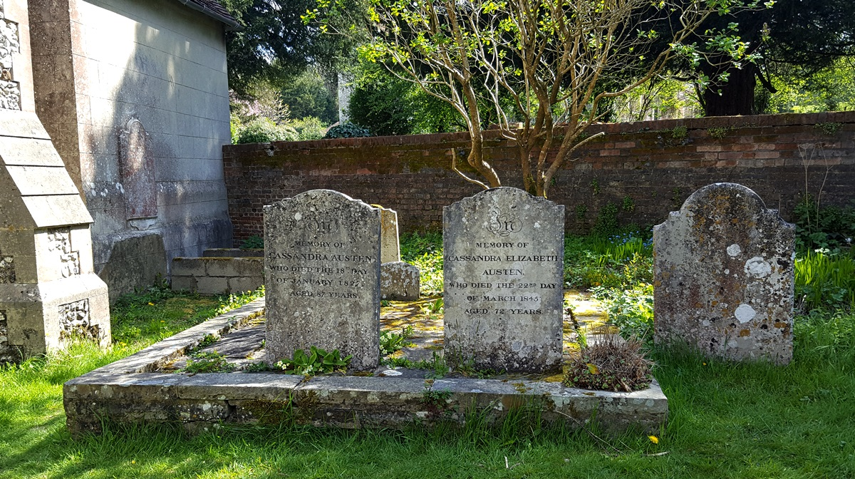 Gravestones of Cassandra Austen and her mother.  Credit: Julia Grantham.