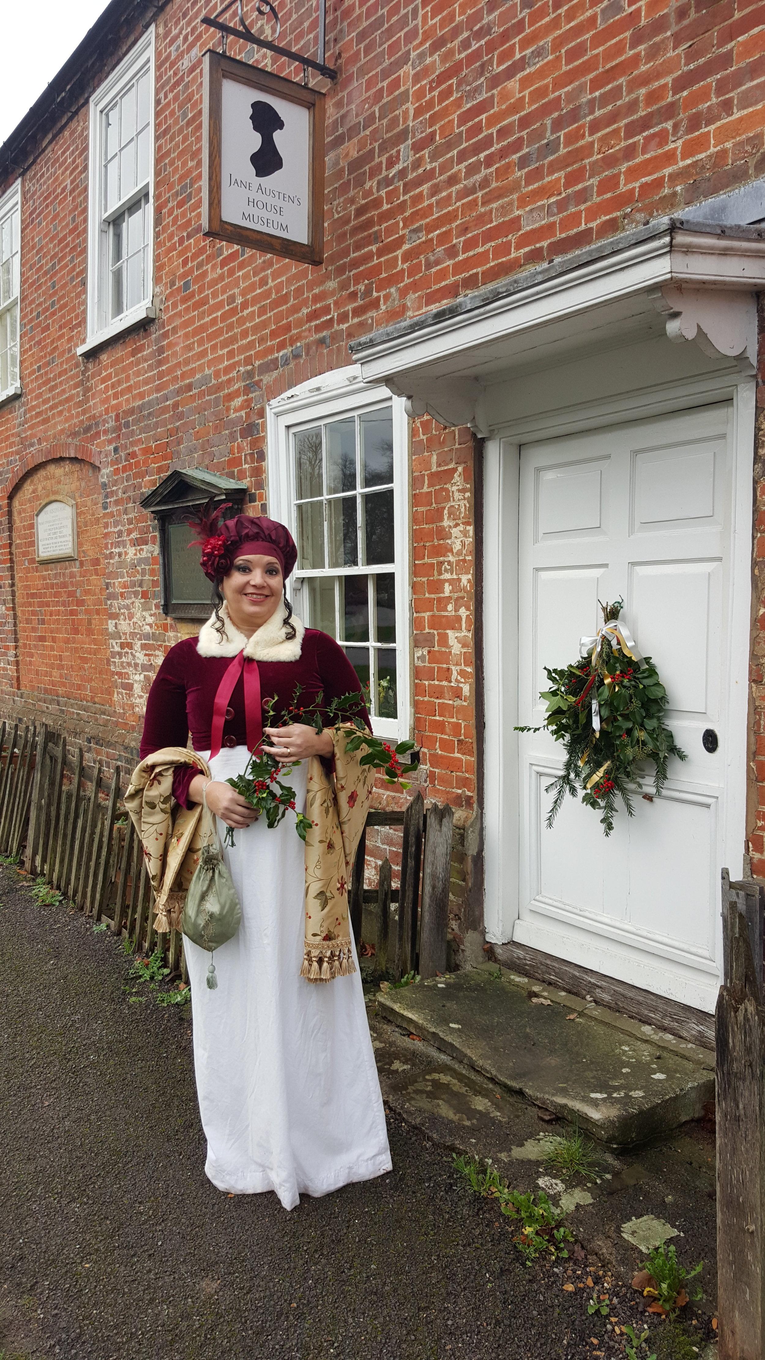 Rita L. Watts outside the Jane Austen's House Museum