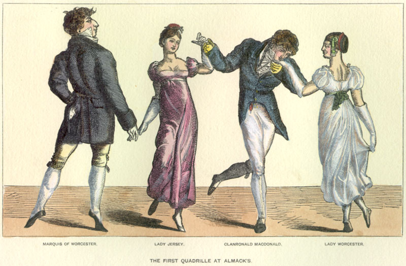 'The First Quadrille at Almack's'.  Licensed for reuse under Creative Commons.