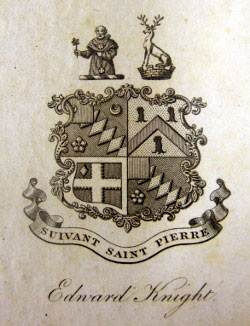 Edward Austen Knight's bookplate.  Credit: Caroline Jane Knight.