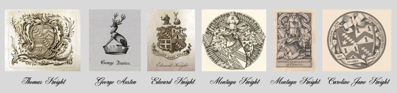 The Austen and Knight bookplates.  Credit: Julia B. Grantham.