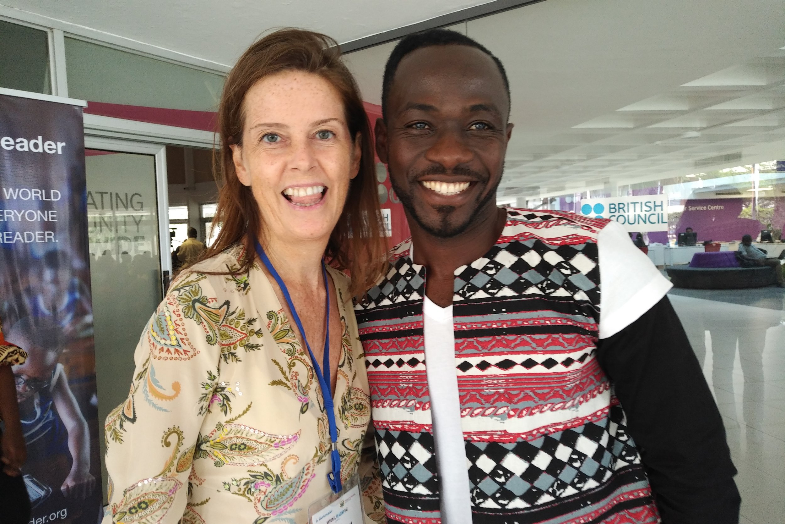 Lucy Beresford with Okyeame Kwame.  Credit: Lucy Beresford.