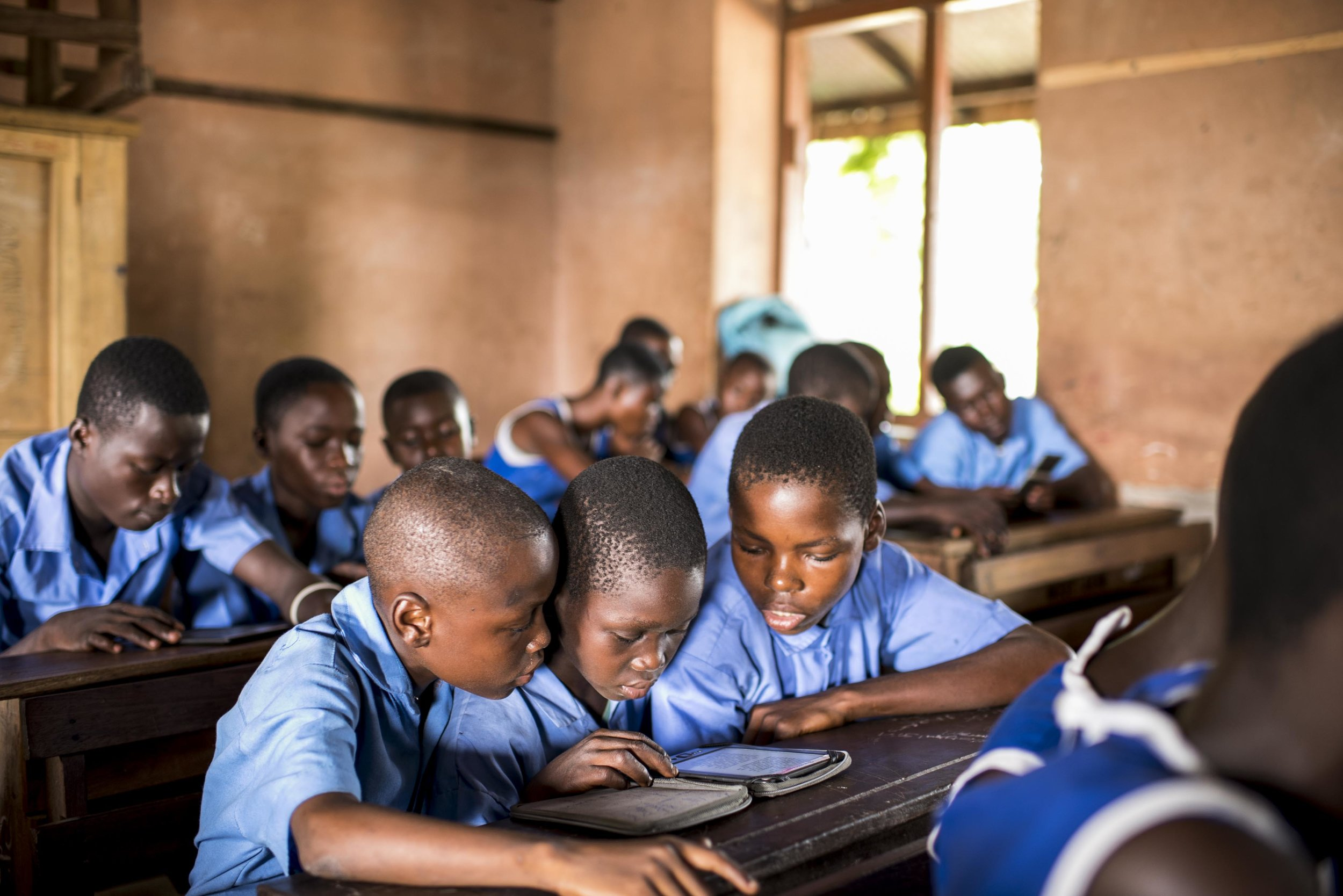 Students in Ghana.  Credit: Worldreader