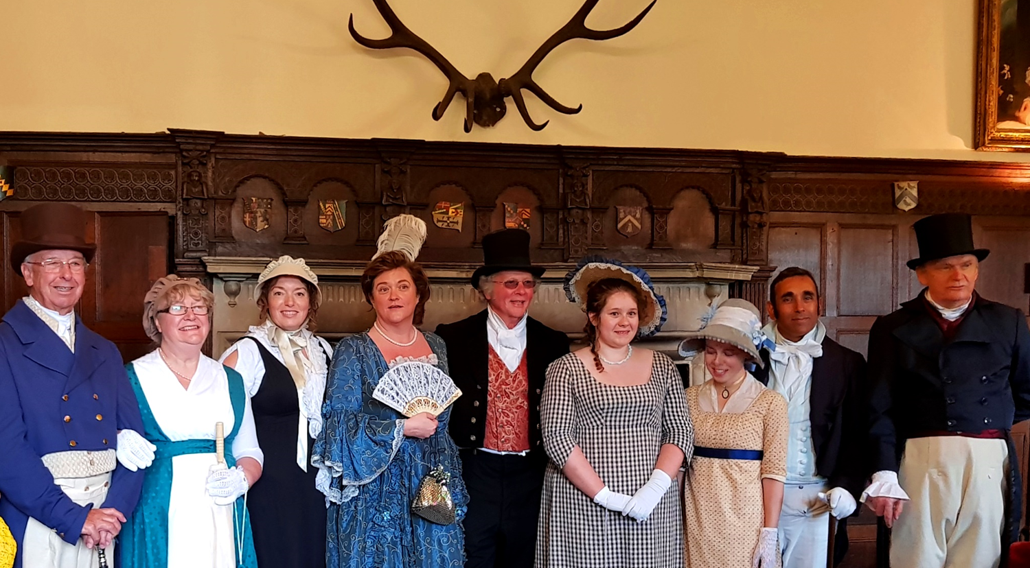 Participants of the 2018 JALF Walk for Literacy at Chawton House. Amanda Mortensen is third from the left.  Credit: Julia Grantham