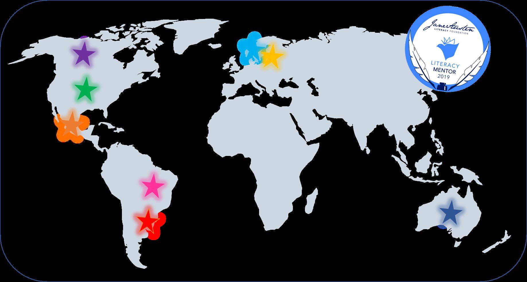 Literacy Mentors Map.  Credit: Jacqueline Harris