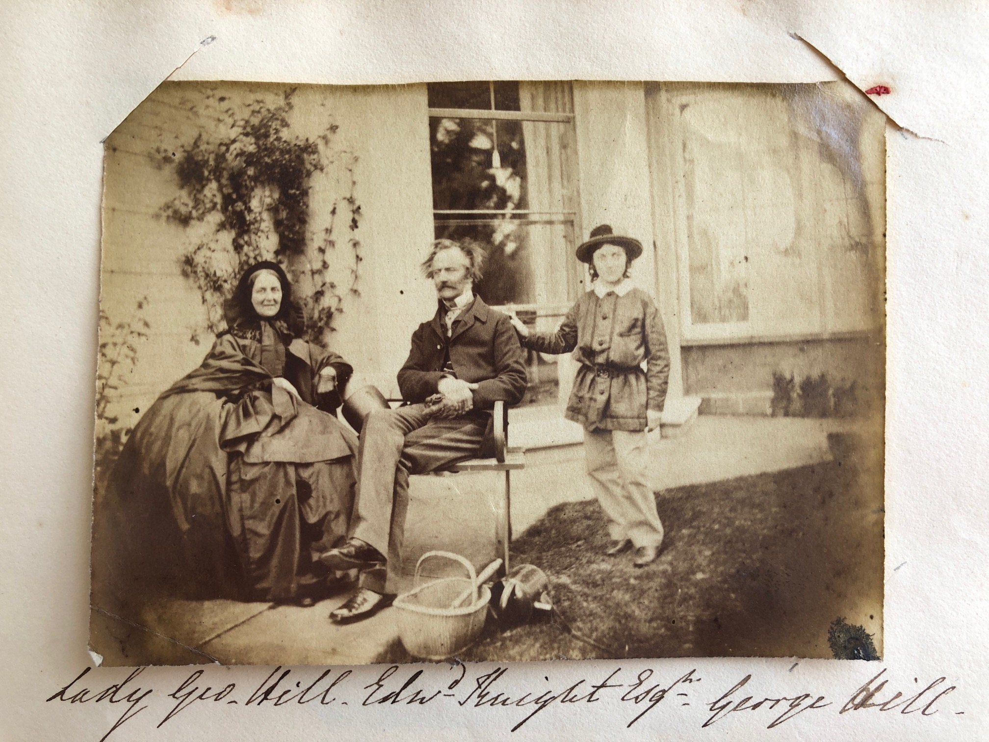 Lady George Hill (Louisa Knight), Edward Knight & Master George Hill at Chawton House rectory.  Credit: Karen Ievers