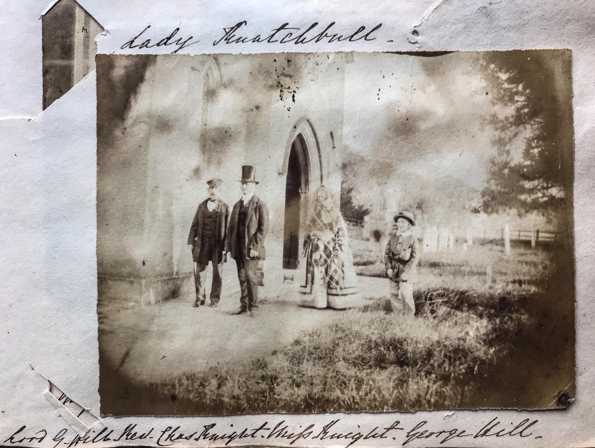Lord George Hill, Rev. Charles Knight, Miss Marianne Knight & Master George Hill at St. Nicholas church, Chawton.  Credit: Karen Ievers.