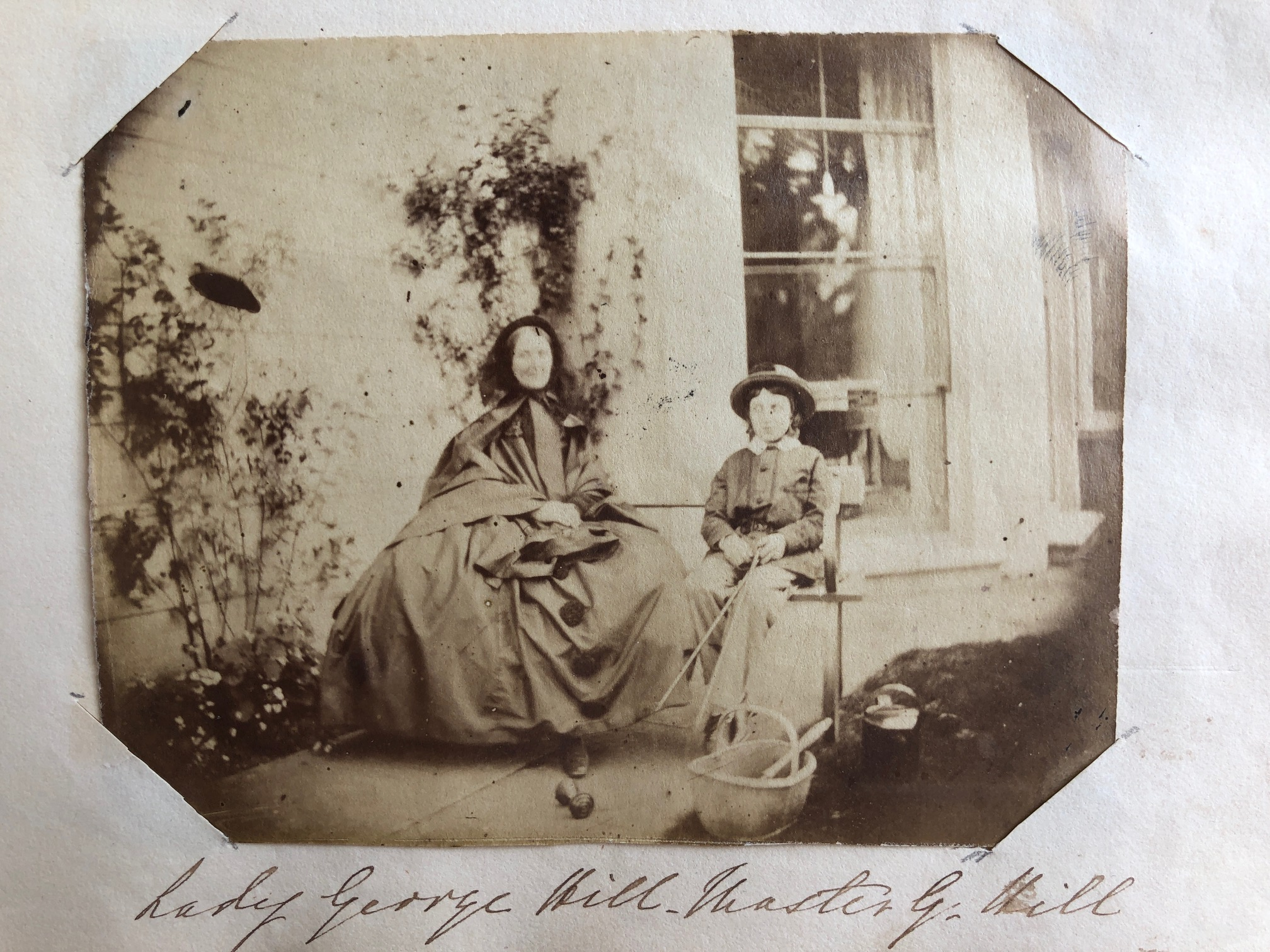 Lady George Hill (Louisa Knight) & her son, Master George Hill at Chawton House rectory.  Credit: Karen Ievers.
