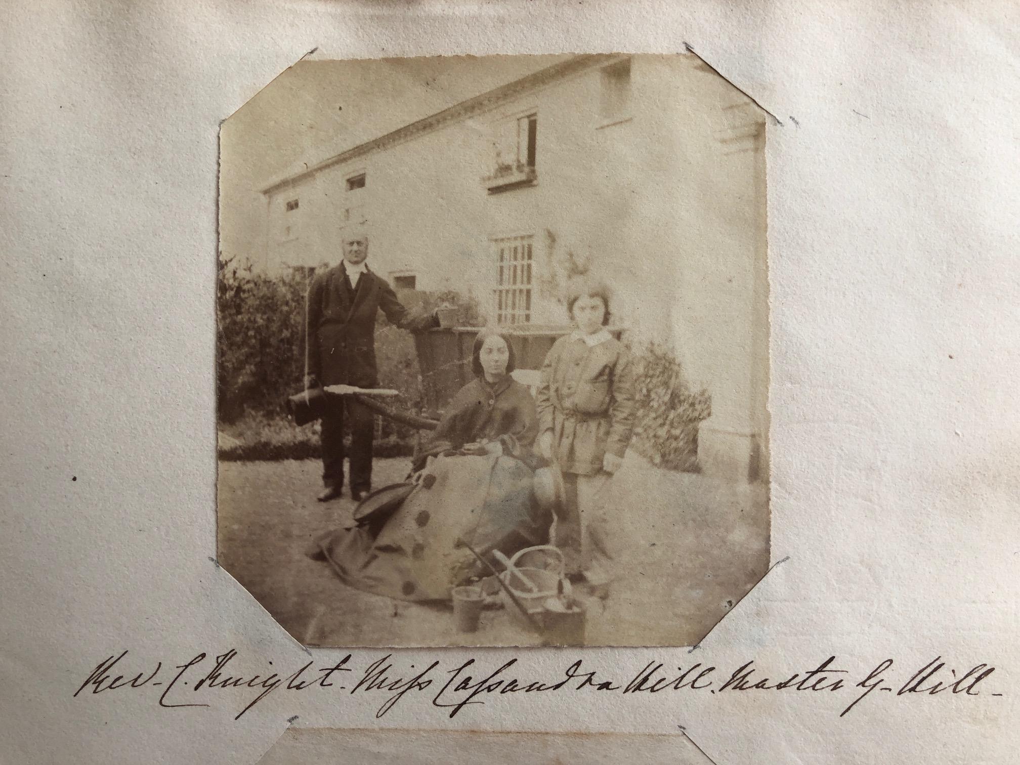 Miss Cassandra Hill, Rev. Charles Knight & Master George Hill.  Credit: Karen Ievers.