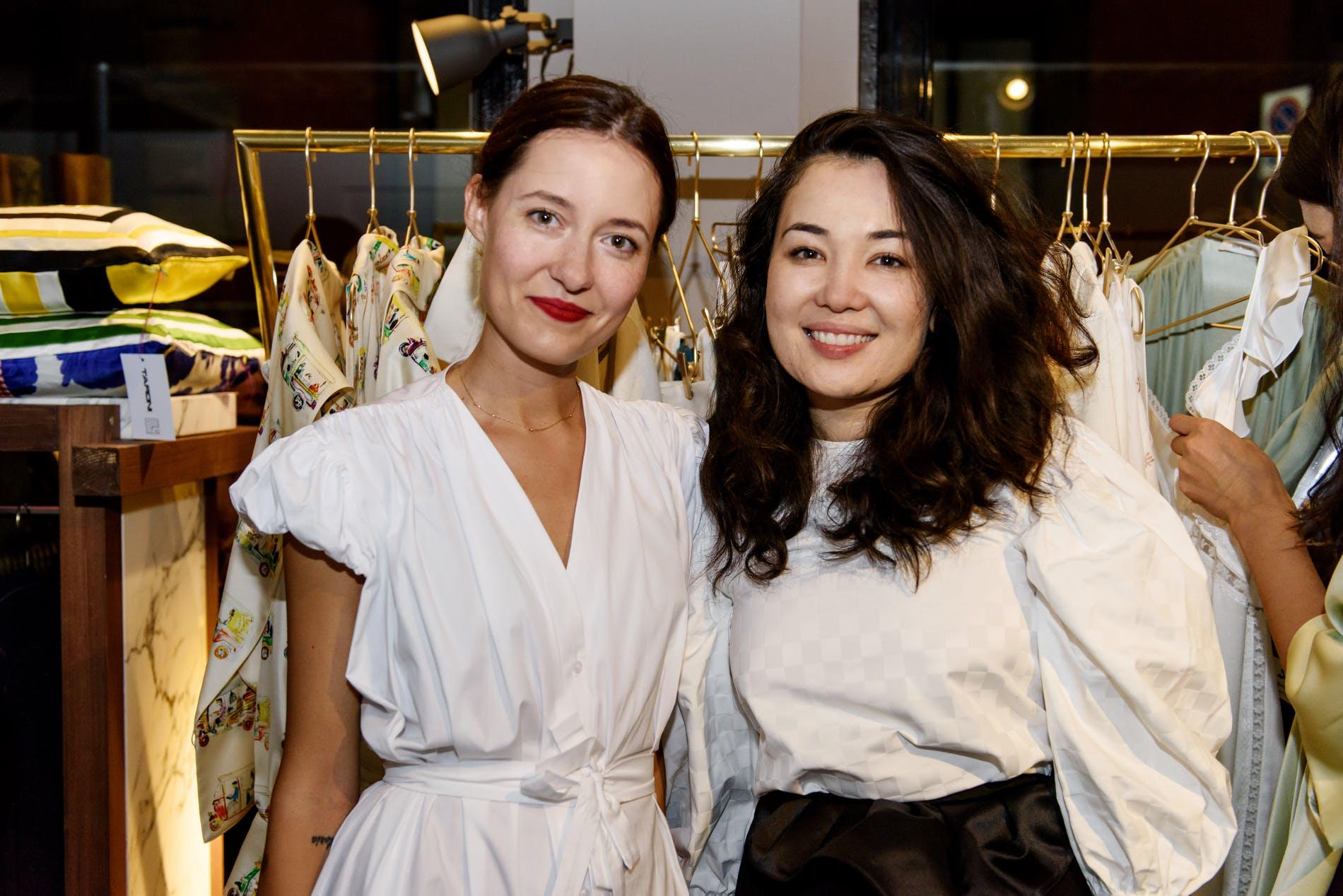 Victoria Kapriz (Son Trava Head Designer) and Azhar Safinova (Aere-Store Owner)