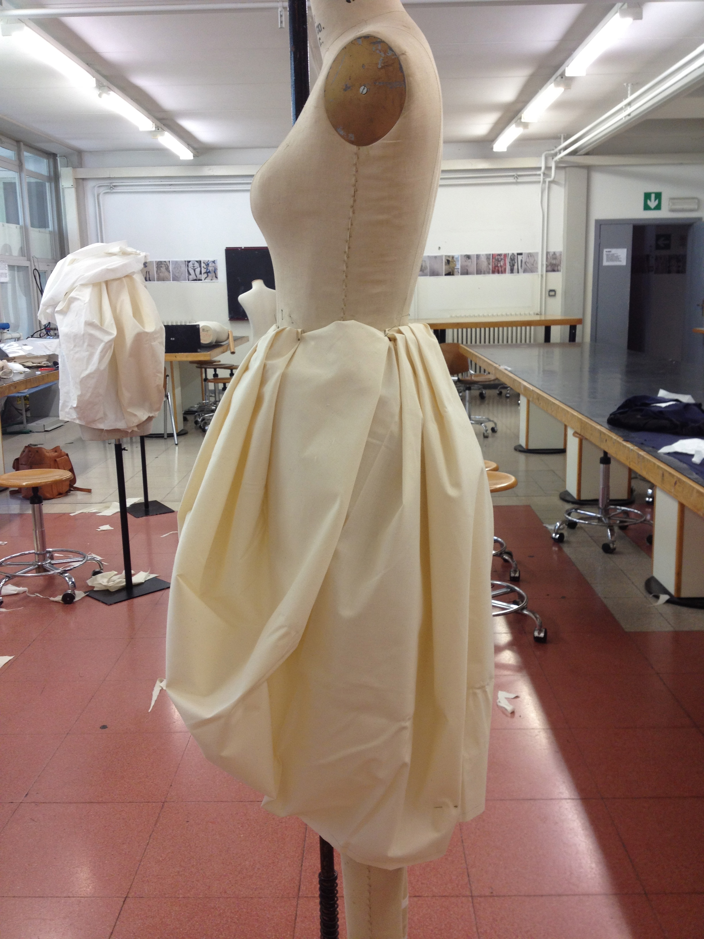 Working on the collection, Polimoda school, Florence