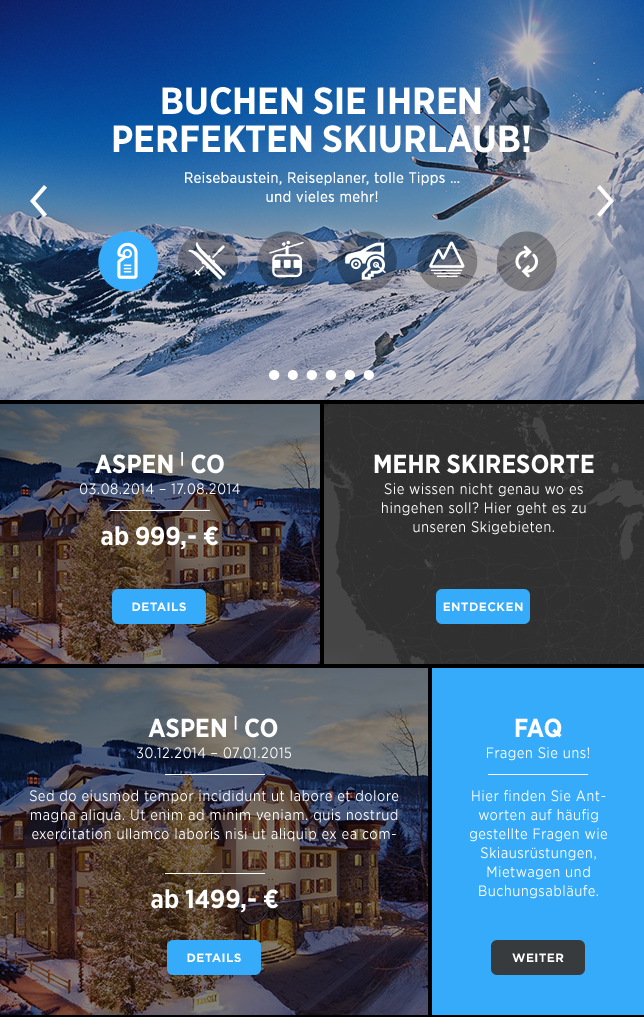 CU Travel Ski Digital Branding