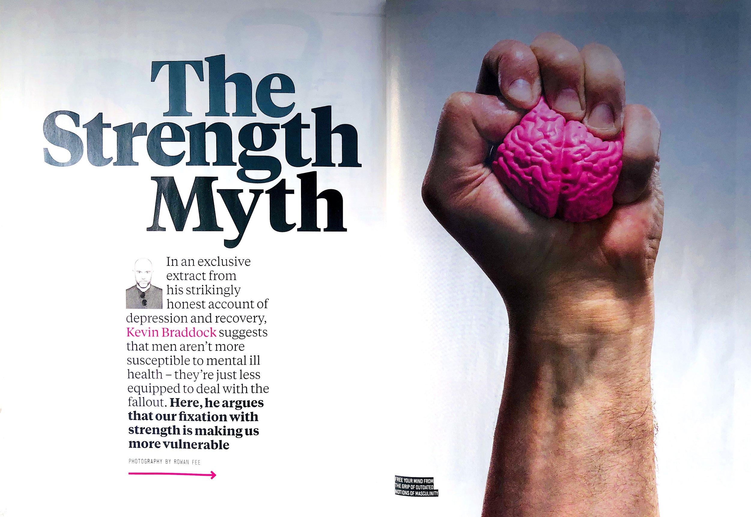 Addressing the problem of men & depression: Kevin in Men's Health magazine -